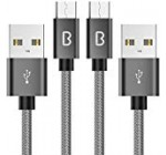 Cable Micro USB, Beikell 2M [2-Pack] 2.4A Cable Micro USB Trenzado de Nylon-Cable USB Sincro y para Samsung Galaxy S7 / S7 Edge,Note 5/4 / 3,HTC,LG,Sony, Nexus, Blackberry, Nokia, Android